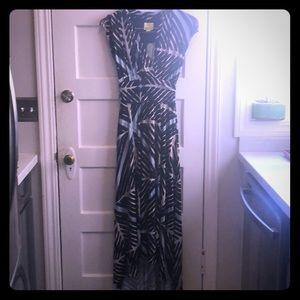 Maxi dress with high low hem